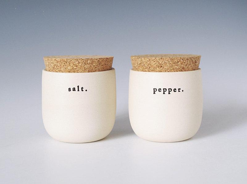 salt and pepper jars by paulova on Etsy