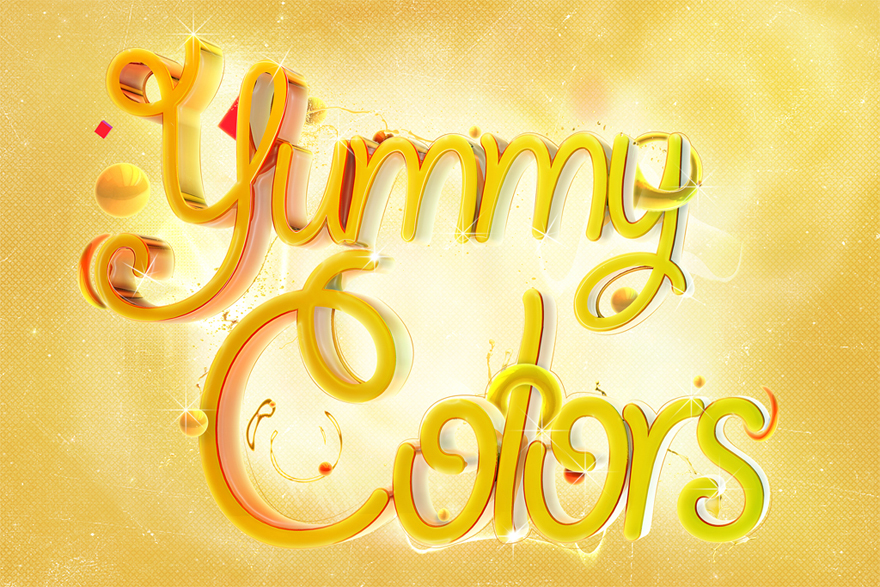 Yummy colors - Typography - Creattica