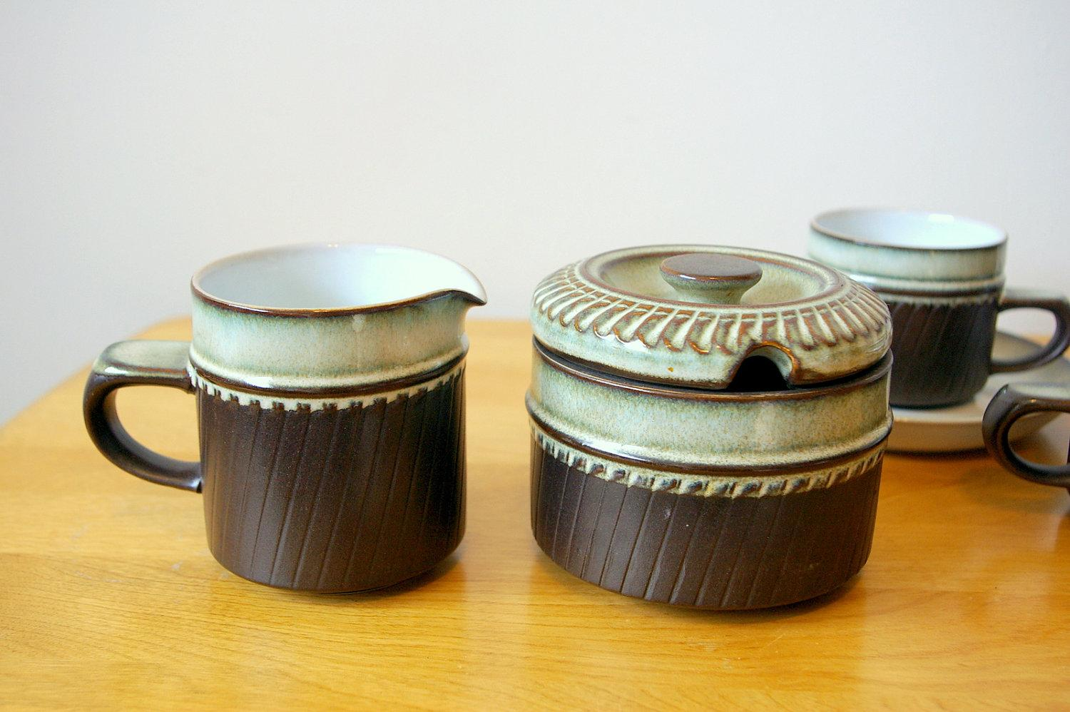 Denby Rondo Sugar Bowl and Creamer by bitofbutter on Etsy
