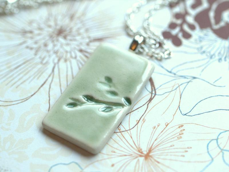 Spring A sweet porcelain pendant with by peifferStudios on Etsy