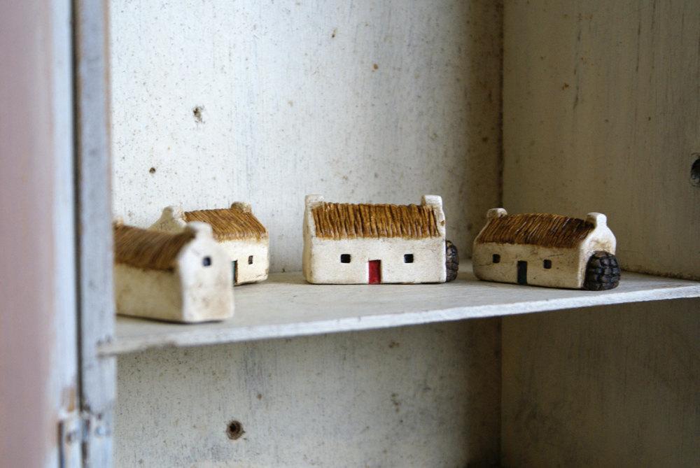 Miniature Irish Cottage Hand Painted Paper Clay by homespunireland