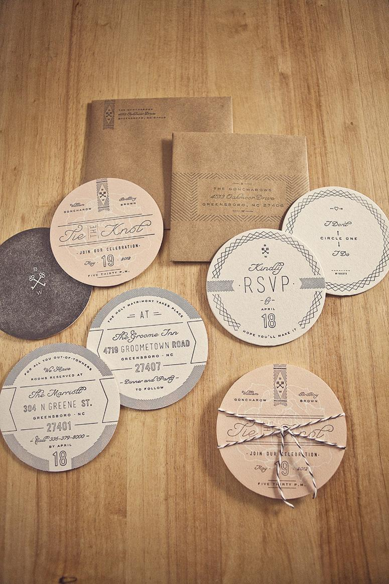FPO: Goncharow's Coaster Wedding Invites