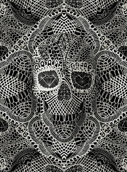 Lace Skull Art Print by Ali GULEC | Society6