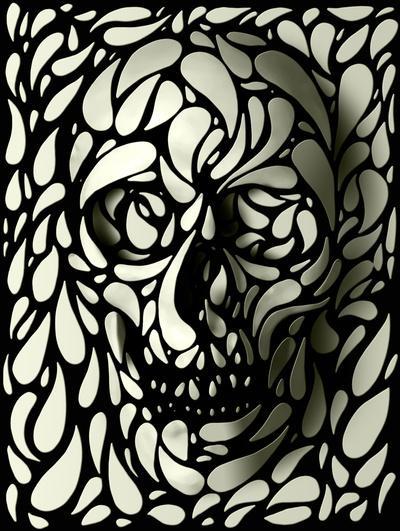 Skull Art Print by Ali GULEC | Society6