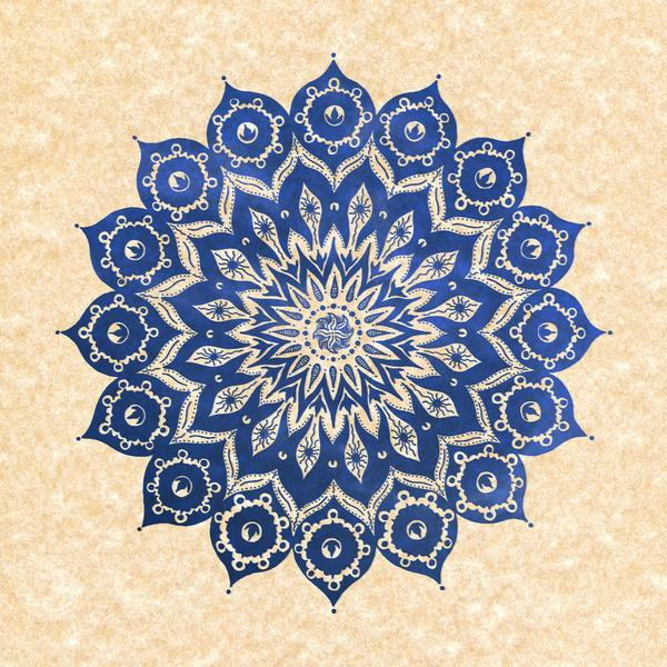 ókshirahm sky mandala Stretched Canvas by Peter Patrick Barreda | Society6