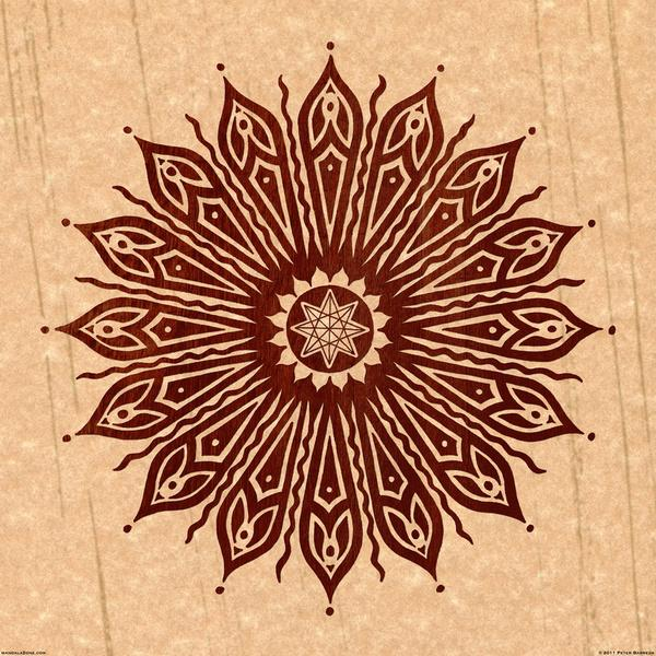 ozorahmi wood mandala Art Print by Peter Patrick Barreda | Society6