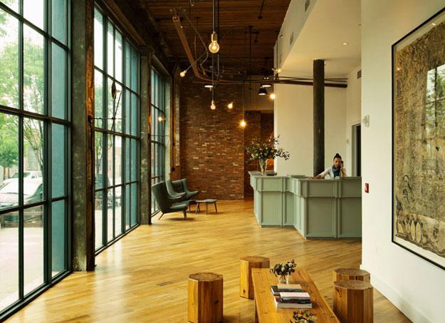 Wythe Hotel in Brooklyn Interior Design and Architecture blog
