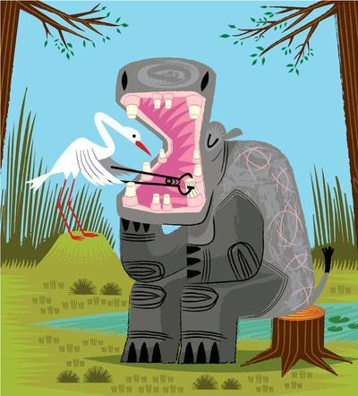 Hippopotamouth Art Print by Oliver Lake | Society6