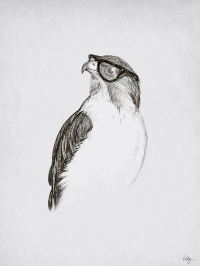 Hawk with Poor Eyesight Art Print by Phil Jones | Society6