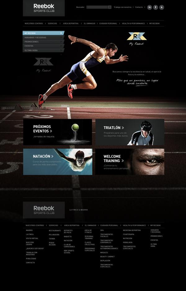 Reebok Sport Club sur le Web Conception Servi