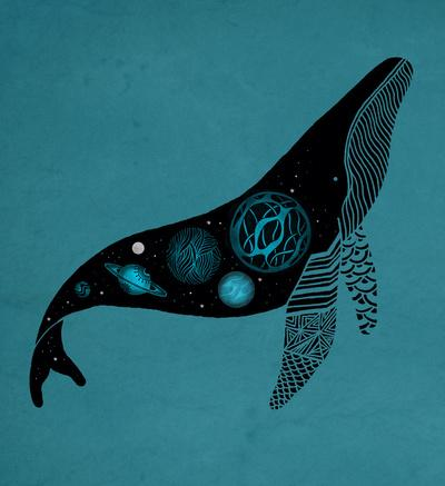 Whale Soul & the Galactic Tour Art Print by Monica Gifford | Society6