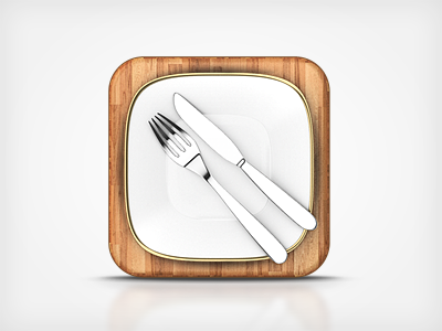 Food App Icon v2 by Miika Fabritius