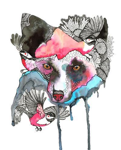 silver fox Art Print by Ola Liola | Society6