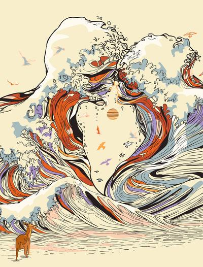 The Wave of Love Art Print by Chalermphol Harnchakkham | Society6