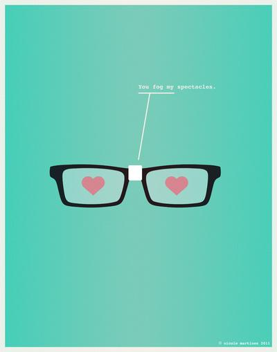 You Fog My Spectacles Art Print by Nicole Martinez | Society6