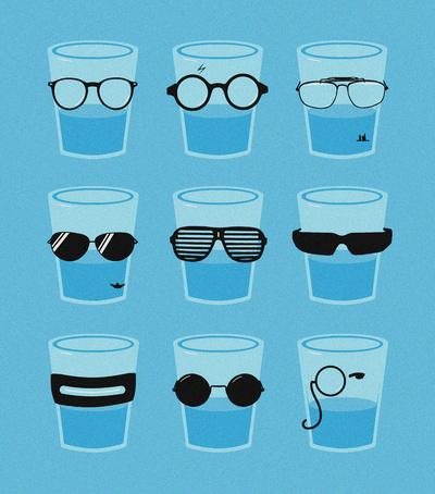 Glasses Art Print by Zach Terrell | Society6