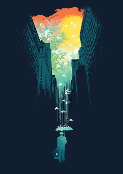 I Want My Blue Sky Art Print by Budi Satria Kwan | Society6