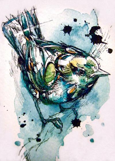 Perching Art Print by Abby Diamond   Society6