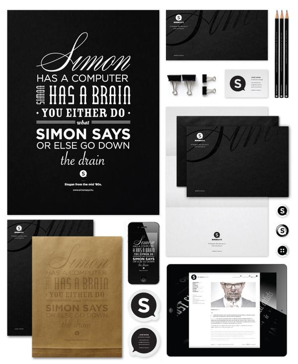 Simon Says - Corporate Identity, 2012 on Typography Served