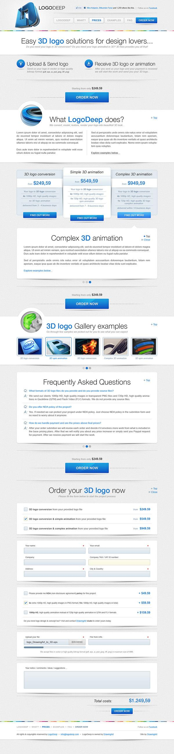 LogoDeep on Web Design Served