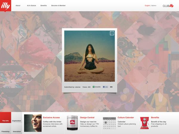Club illy on Web Design Served