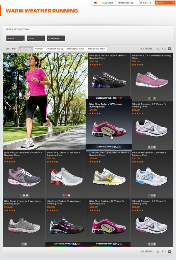 Nike Store on Web Design Served