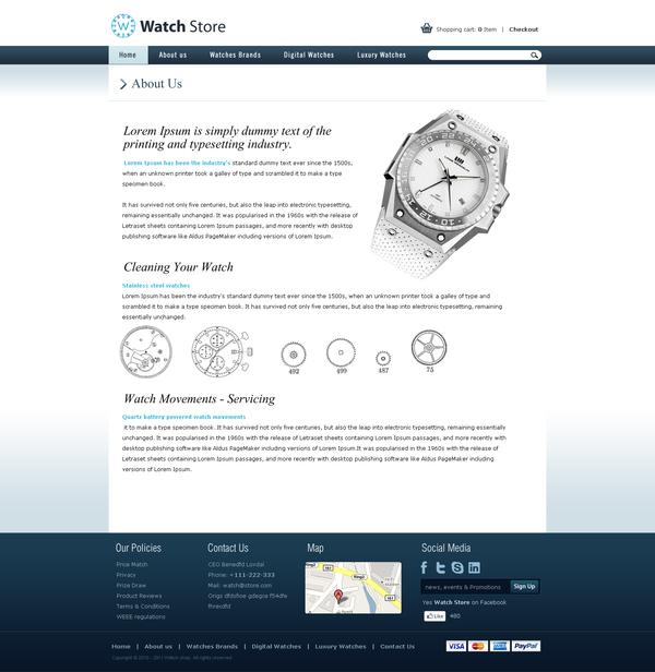 Watch Store on Web Design Served