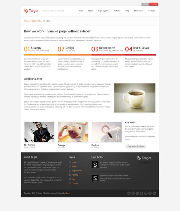 Target - Psd template on Web Design Served
