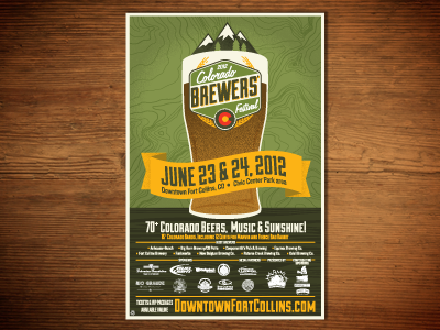 Coloradobrewersfestival Final Poster by Kaitlin Denig