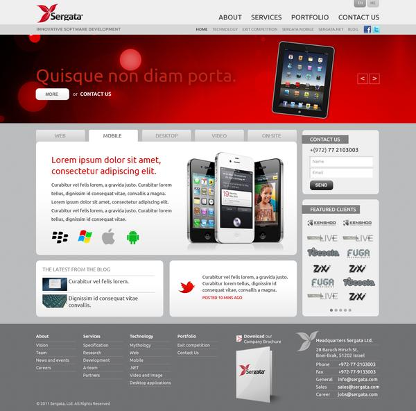 Sergata: Company Website on Web Design Served