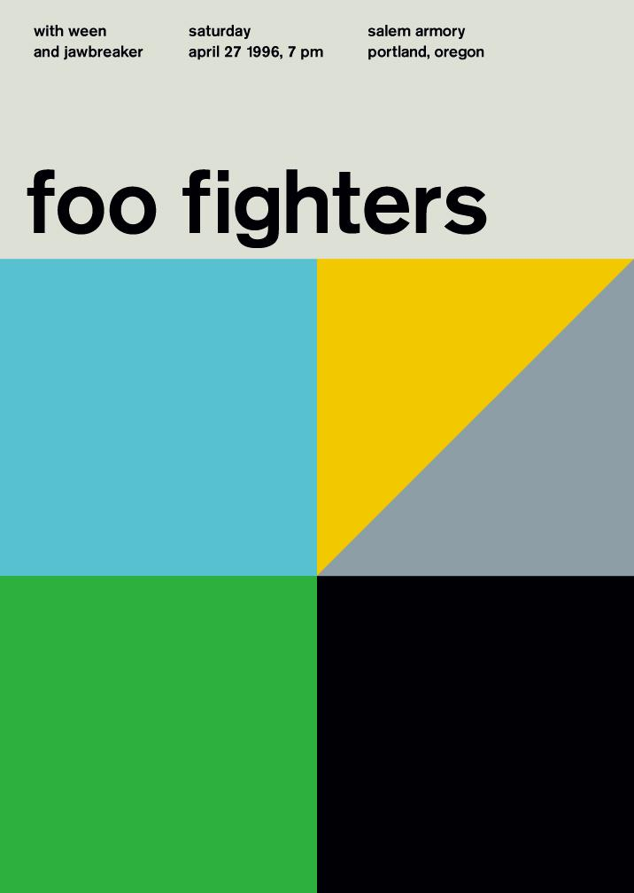 foo fighters at salem armory, 1996 - swissted