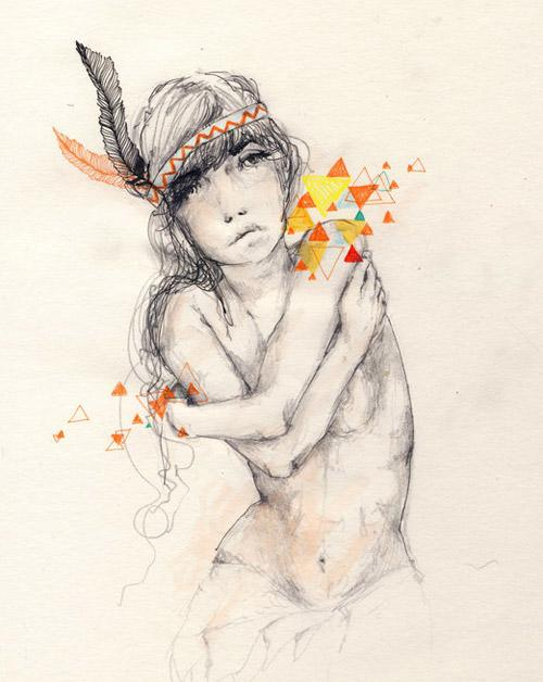 // Drawing Inspiration: Charmaine Olivia // Hyphenation