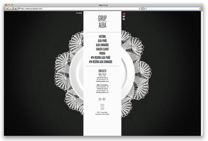 Alba Restaurant Barcelona. Graphic design by Lo Siento Studio, Barcelona