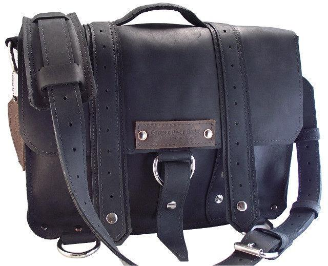 15 Laptop Voyager Messenger bag Black 100 Full by CopperRiverBags