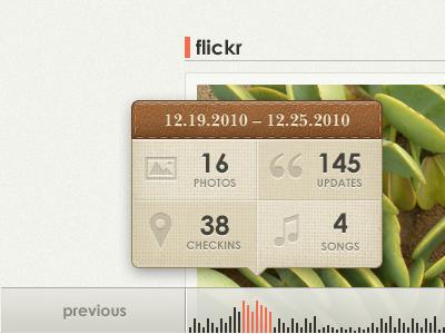 Glossi Timeline Interface by Marc Schäffner-Gurney