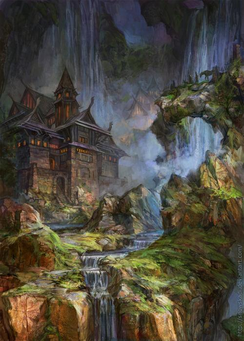 The Illustratosphere - Waterfalls by SnowSkadi
