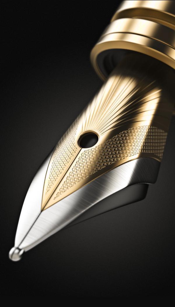 3d Golden Ink Pen