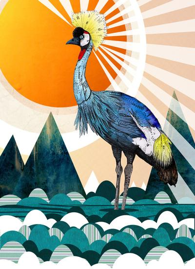Crowned Crane Art Print by Sandra Dieckmann | Society6