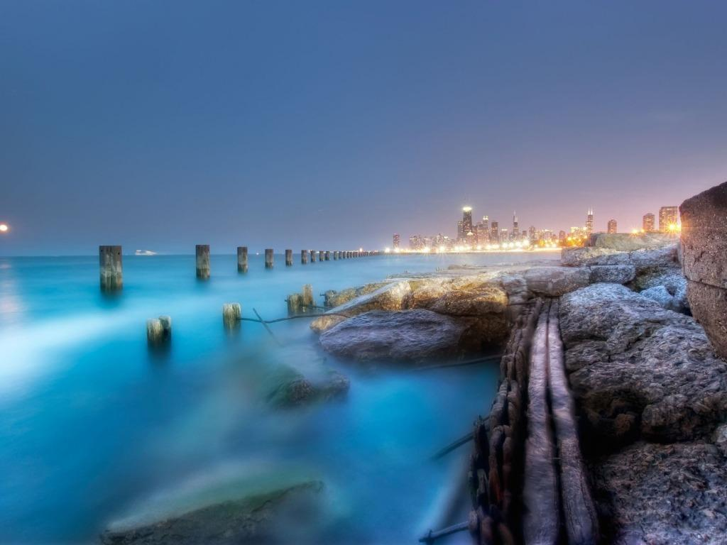 blur-hdr-beach 1024 x 768 Wallpaper | eWallpapers