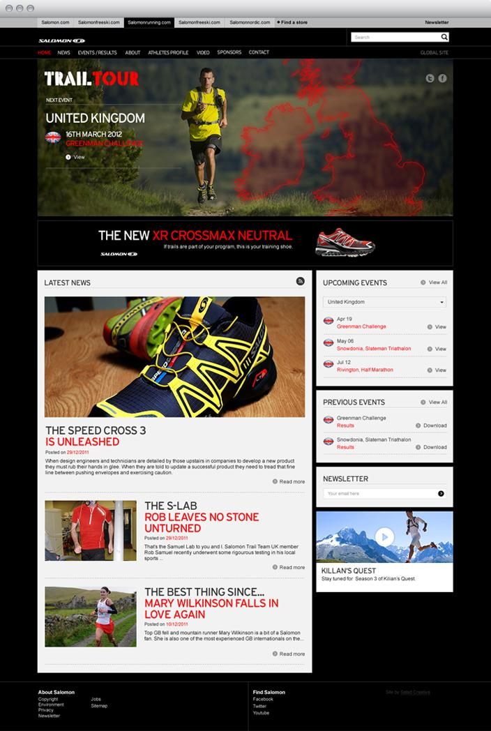 Salomon Trail Tour Web Design & Development | Salad Creative