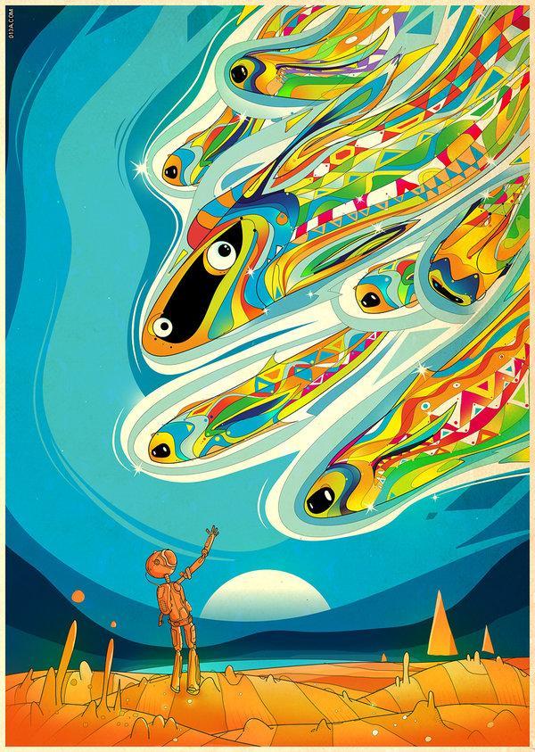 Stellar Freestyle Illustrations by Matei Apostolescu   inspirationfeed.com