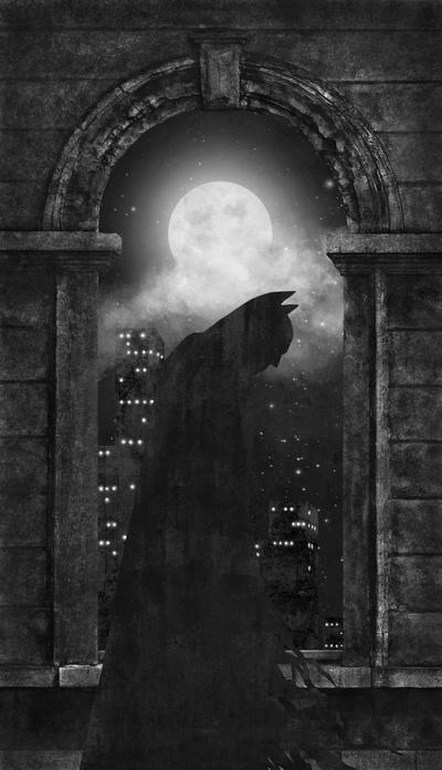 Dark Knight Art Print by Terry Fan | Society6