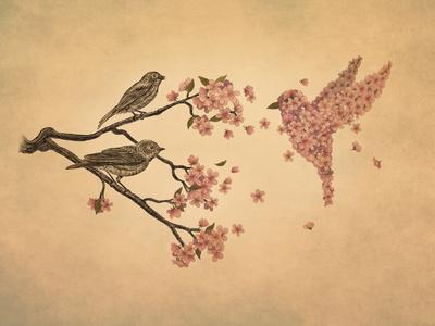 Blossom Bird Art Print by Terry Fan | Society6