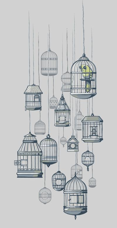 Last Bird in the Shop Art Print by Jewelwing | Society6
