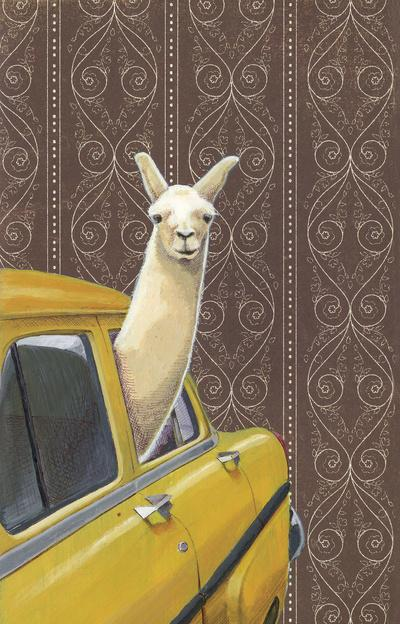 Taxi Llama Art Print by Jason Ratliff | Society6