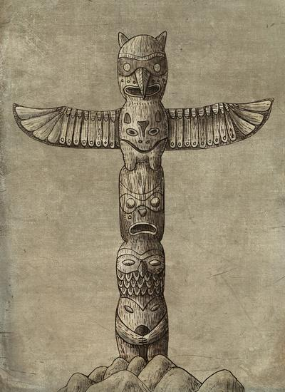 Totem Art Print by Terry Fan | Society6
