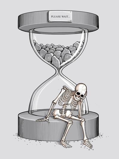 Please wait Art Print by Naolito   Society6
