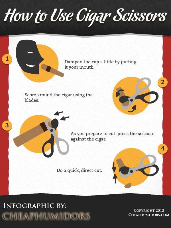 [INFOGRAPHIC] Cigar Cutting 101 – How to Use Cigar Scissors « CheapHumidors.com Blog