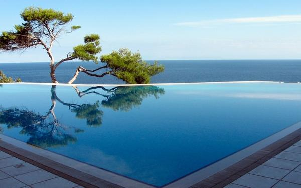 ocean,trees ocean trees swimming pools 1920x1200 wallpaper – Oceans Wallpaper – Free Desktop Wallpaper