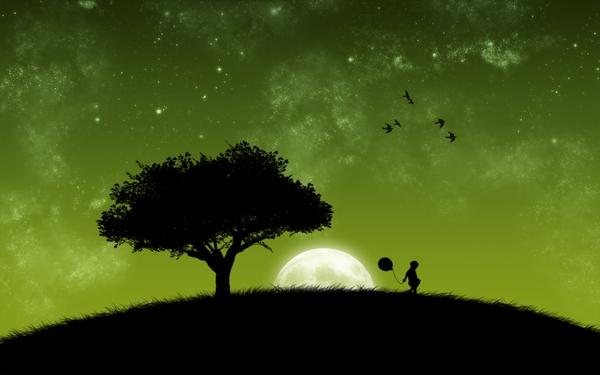 trees,Moon trees moon silhouette 1440x900 wallpaper – Moon Wallpaper – Free Desktop Wallpaper